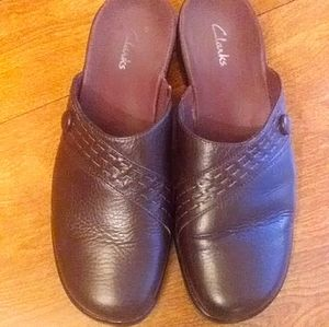 Clarks brow clogs mules slip on shoes leather